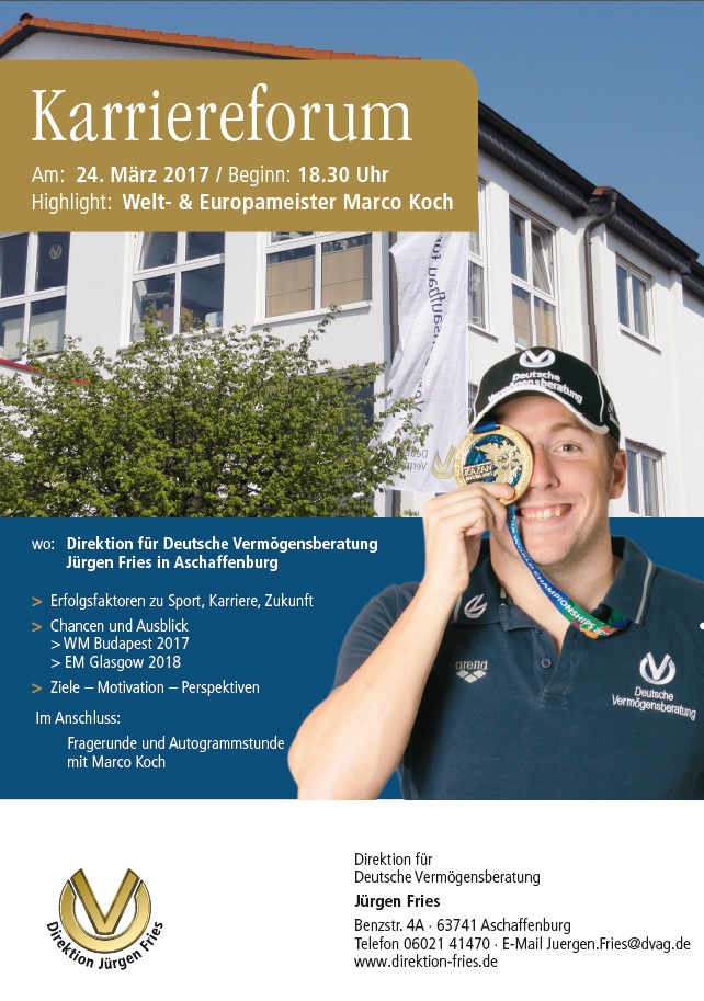 Karriereforum Marco Koch 24.03.2017